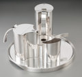 Silver Holloware, Continental, Lino Sabattini (Italian, b. 1925). Five-Piece Coffee and TeaService, circa 1960. Silver-plate. 7-1/8 inches high (18.1 ...(Total: 5 Items)