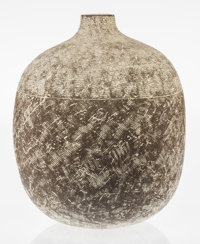 Claude Conover (American, 1907-1994) Kimak Jar, circa 1970 Glazed earthenware 18-3/8 inches high
