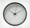 Timepieces, Henning Koppel (Danish, 1918-1981). Wall Clock, designed 1978, Georg Jensen. Enameled steel, ABS plastic. 2-3/8 inches h...