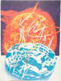 Fine Art - Work on Paper:Print, James Rosenquist (1933-2017). Sunset on the Time Zone, 1989.Lithograph and collage in colors on heavy paper pulp. 78-3/...
