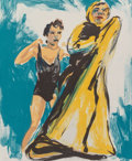 Fine Art - Work on Paper:Print, Eric Fischl (b. 1948). Annie, Gwen, Lily, Pam and Tulip(Woman in Black, Woman in Robe), 1986. Lithograph in colors on R...