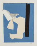 Fine Art - Work on Paper:Print, Robert Motherwell (1915-1991). Water's Edge, 1984.Lithograph and relief in colors with collage and embossing onhandmad...