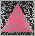 Fine Art - Work on Paper:Print, Keith Haring (1958-1990). Silence Equals Death, 1989.Screenprint in colors. 33 x 33 inches (83.8 x 83.8 cm) (image).39...