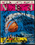 Basketball Collectibles:Programs, 1990 NBA All-Star Multi-Signed Program (19 Signatures)....