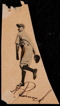 Baseball Collectibles:Others, Herb Pennock Cut Signature....