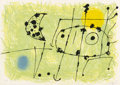 Fine Art - Work on Paper:Print, Joan Miró (1893-1983). Plate 6, Le lazard aux plumes d'or,1967. Lithograph in colors on Japan paper. 14 x 19-3/4 inches...