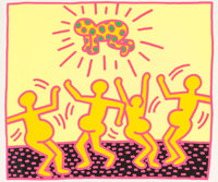 Keith Haring (1958-1990) One Plate, from The Fertility Suite, 1983 Screenprint in colors