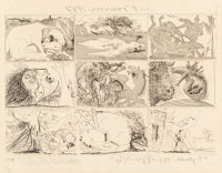 Pablo Picasso (1881-1973) One Plate, from Suenos y mentira de franco, 1937 Etching with a