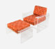 Charles Hollis Jones (American, b. 1945) Lounge with Ottoman Acrylic, foam-filled cushions 31 x 30-1/4 x 29-1/2 inche...