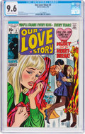 Bronze Age (1970-1979):Romance, Our Love Story #3 (Marvel, 1970) CGC NM+ 9.6 Off-white to whitepages....