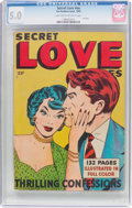 Golden Age (1938-1955):Romance, Secret Love Stories #nn (Fox Features Syndicate, 1949) CGC VG/FN5.0 Light tan to off-white pages....