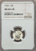 Mercury Dimes: , 1926 10C MS65+ Full Bands NGC. NGC Census: (97/41 and 1/1+). PCGS Population: (219/135 and 1/6+). CDN: $250 Whsle. Bid for ...