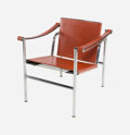 Furniture : French, Charlotte Perriand (French, 1903-1999), Le Corbusier (French,1887-1965), and Pierre Jeanneret (French, 1896-1967). LC1Ch...