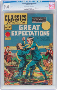 Classics Illustrated #43 Great Expectations HRN 62 (Gilberton, 1949) CGC NM 9.4 Cream to off-white pages