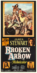 "Movie Posters:Western, Broken Arrow (20th Century Fox, 1950). Three Sheet (41"" X 78.5"").. ..."