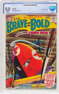 The Brave and the Bold #10 (DC, 1957) CBCS VG/FN 5.0 Off-white to white pages