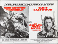"The Gauntlet/ Outlaw Josey Wales Combo (Warner Brothers, 1977). British Quad (30"" X 40""). Action"