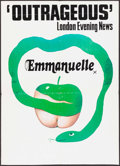 """Movie Posters:Adult, Emmanuelle (Columbia, 1974). Trimmed British Double Crown (20.25"""" X 28""""). Adult.. ..."""