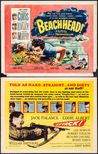"""Attack! & Other Lot (United Artists, 1956). Rolled, Fine/Very Fine. Half Sheets (4) (22"""" X 28"""") Style..."""