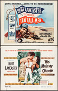 "Movie Posters:Adventure, His Majesty O'Keefe & Other Lot (Warner Brothers, 1954). HalfSheets (2) (22"" X 28""). Adventure.. ... (Total: 2 Items)"