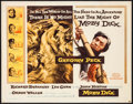 "Movie Posters:Adventure, Moby Dick (Warner Brothers, 1956). Half Sheet (22"" X 28"").Adventure.. ..."