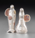 Silver Holloware, American:Mixed Metal, Two Tiffany & Co. Aesthetic Movement Silver and Mixed MetalPepper Shakers, New York, circa 1873-1891. Marks: TIFFANY &CO... (Total: 2 Items)