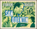 "Movie Posters:Crime, San Quentin (Dominant, R-1956). Half Sheet (22"" X 28""). Crime.. ..."