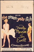 """Movie Posters:Comedy, The Seven Year Itch (20th Century Fox, 1955). Trimmed Window Card(14"""" X 21""""). Comedy.. ..."""