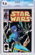 Modern Age (1980-Present):Science Fiction, Star Wars #96 (Marvel, 1985) CGC NM+ 9.6 White pages....