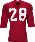 Football Collectibles:Uniforms, 1967-73 Maroon Durene Game Worn Jersey....