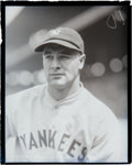 Baseball Collectibles:Photos, Late 1920's Lou Gehrig Glass Plate Negative....