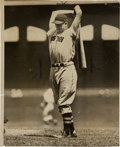 Baseball Collectibles:Photos, 1936 Jimmie Foxx Original News Photograph, PSA/DNA Type 1....
