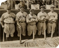 "Baseball Collectibles:Bats, 1929 Chicago Cubs ""Murderer's Row"" Original News Photograph, PSA/DNA Type 1...."