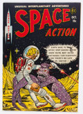 Golden Age (1938-1955):Science Fiction, Space Action #3 (Ace, 1952) Condition: FN/VF....