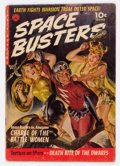 Golden Age (1938-1955):Science Fiction, Space Busters #1 (Ziff-Davis, 1952) Condition: GD+....