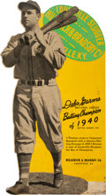 Baseball Collectibles:Others, 1940 Deb Garms Louisville Slugger Die-Cut Advertising Sign....