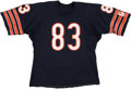 Football Collectibles:Uniforms, 1983-87 Willie Gault Game Worn Chicago Bears Jersey - With Multiple Team Repairs!...