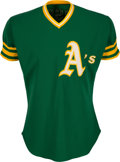 Baseball Collectibles:Uniforms, 1974 Ray Fosse Game Worn Oakland Athletics Jersey from World Series Season, MEARS A10. ...