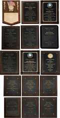 Baseball Collectibles:Others, 1984-2003 Brooklyn Dodgers Hall of Fame Inductees Plaques Lot of15.... (Total: 15 item)