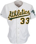 Baseball Collectibles:Uniforms, 1990 Jose Canseco Game Worn Oakland Athletics Jersey....