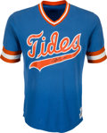 Autographs:Baseballs, 1982 Darryl Strawberry Signed Game Worn Tidewater Tides Jersey - Worn During the 1982 International League Playoffs!...