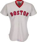 Baseball Collectibles:Uniforms, 1975 Luis Tiant Game Worn Boston Red Sox Jersey. ...