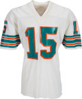Football Collectibles:Uniforms, Circa 1975 Earl Morrall Game Worn & Signed Miami Dolphins Jersey. ...