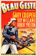 "Movie Posters:Adventure, Beau Geste (Paramount, 1939). One Sheet (27.5"" X 41"") Style A.. ..."