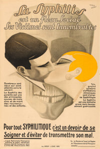 La Syphilis (Ligue Nationale Française contre le peril Vénérien, 1920s). French Half Grande (31&quo...