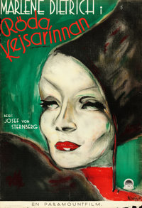 "The Scarlet Empress (Paramount, 1934). Swedish One Sheet (27"" X 39"") Martin Kosleck Artwork"