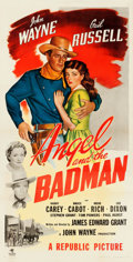 "Movie Posters:Western, Angel and the Badman (Republic, 1947). Three Sheet (41"" X 80"")....."