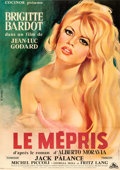 "Movie Posters:Foreign, Le Mepris (Cocinor, 1963). Full-Bleed French Grande (44.25"" X62.25"") Gilbert Allard Artwork.. ..."