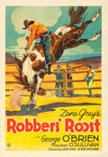 "Movie Posters:Western, Robbers' Roost (Fox, 1932). One Sheet (27"" X 41"").. ..."