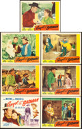 "Movie Posters:Western, Angel and the Badman (Republic, 1947). Title Lobby Card & LobbyCards (6) (11"" X 14"").. ... (Total: 7 Items)"
